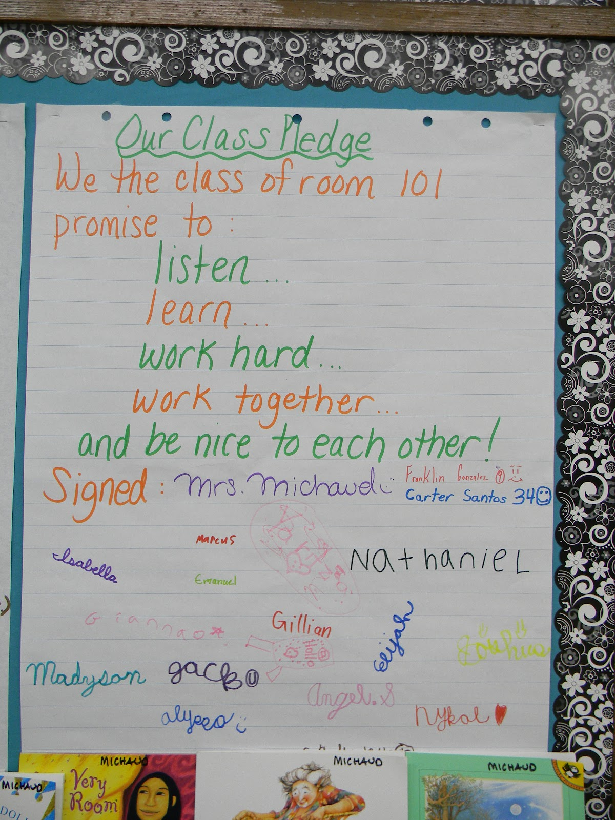 Classroom Pledge Ideas : Can t make this stuff up adventures in teaching hello
