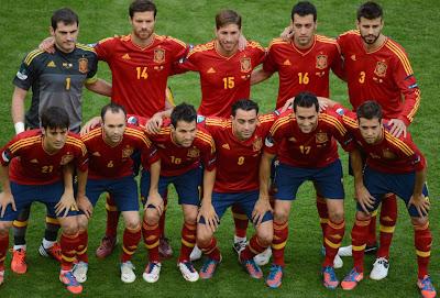 Espanha é eleita melhor seleção de 2012 pelos blogs