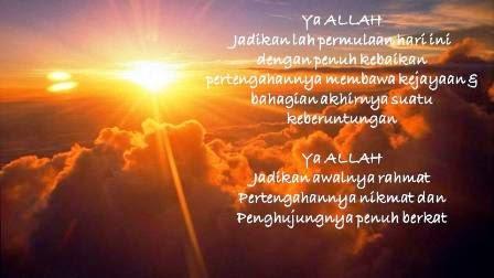 Doa Menyambut Pagi Hari