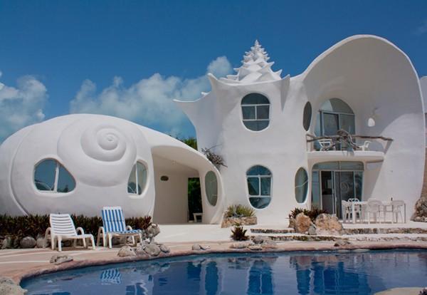 Sea Shell House in Isla Mujeres Mexico, odd Houses