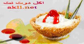 حلي اكواب الكنافة المحشو تشيز كيك