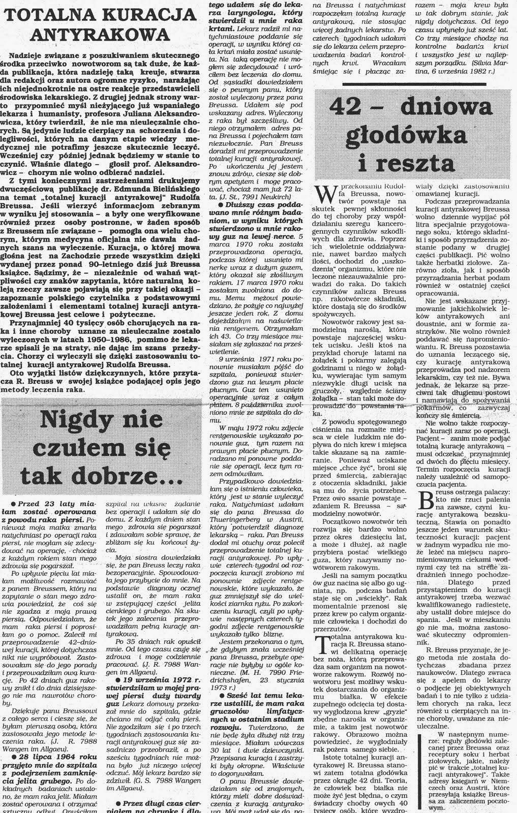 TOTALNA KURACJA ANTYRAKOWA