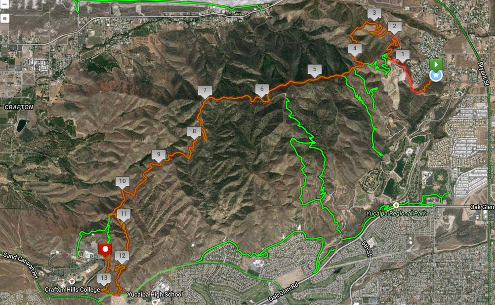 Crafton Hills College Campus Map.Strada Rossa Vi Crafton Hills Sector