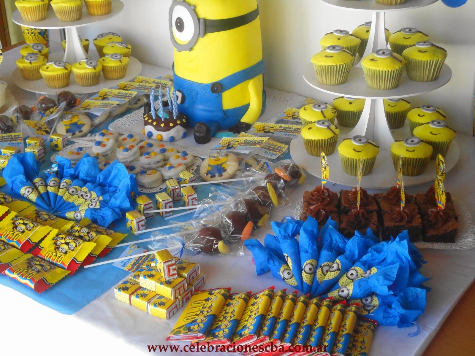 Decoracion mesa de cumplea os minions for Decoracion de mesa de cumpleanos