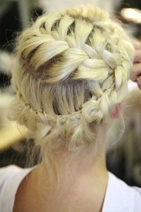 bride hair inspiration: CROWN OF BRAIDS