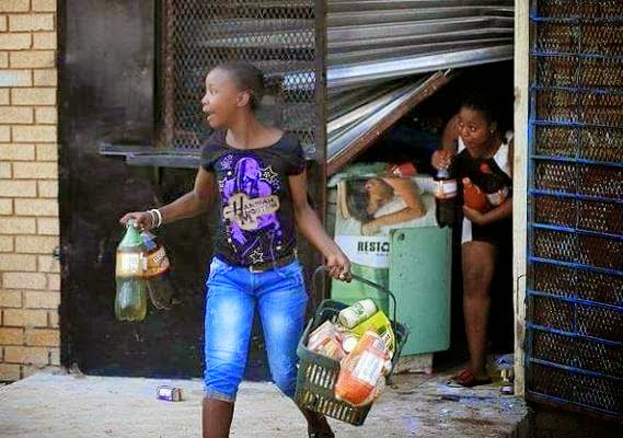 south african looters
