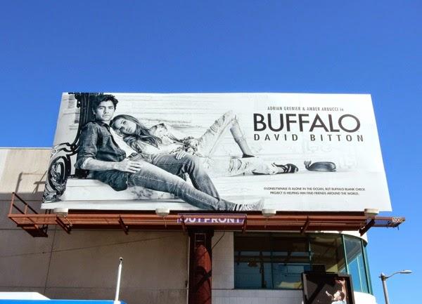 Adrian Grenier Amber Arbucci Buffalo Jeans billboard
