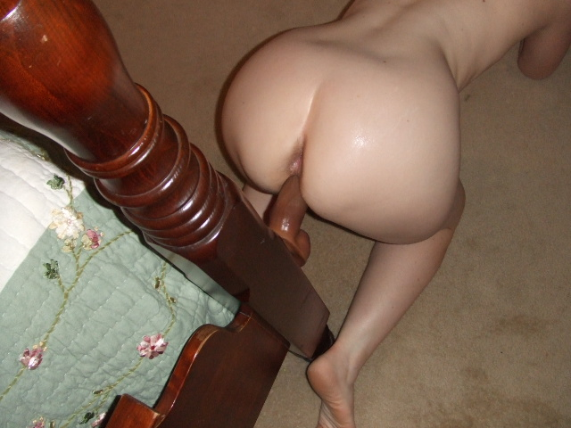 Wemen Using Bed Post For Dildo 109