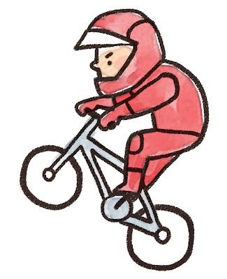 BMXの選手のイラスト(スポーツ)