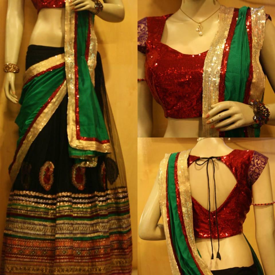 new lehenga choli saree designs style saree choli designs