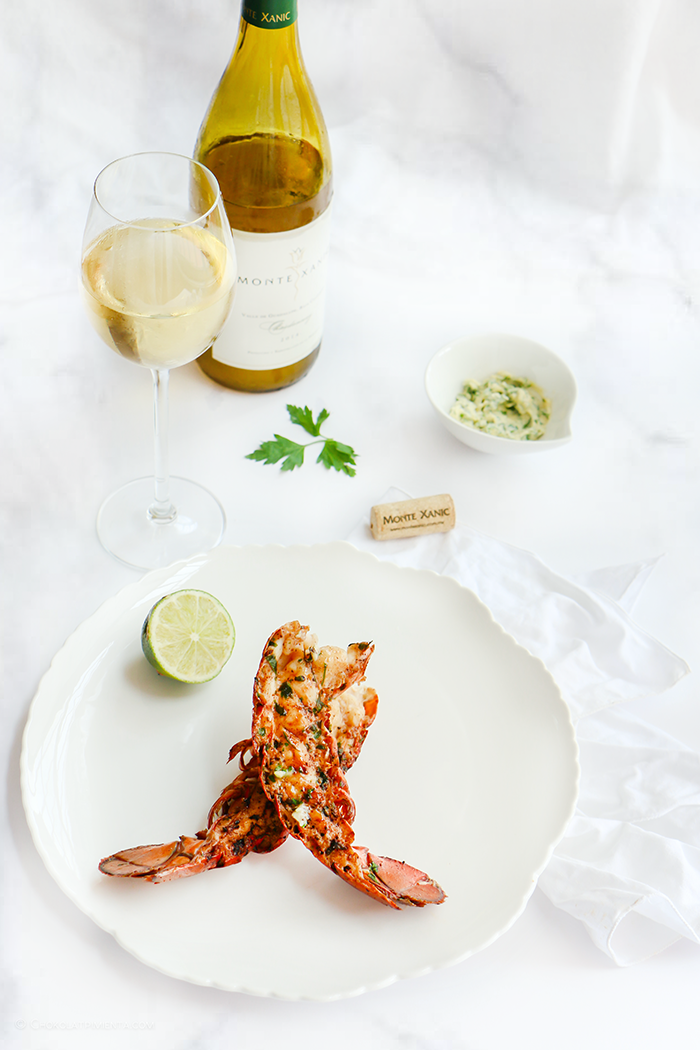 Lobster Tail with garlic and parsley butter