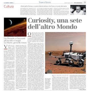 Curiosity, una sete dell&#39;altro Mondo