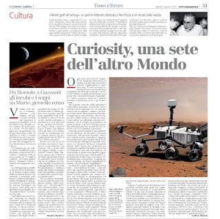 Curiosity, una sete dell'altro Mondo