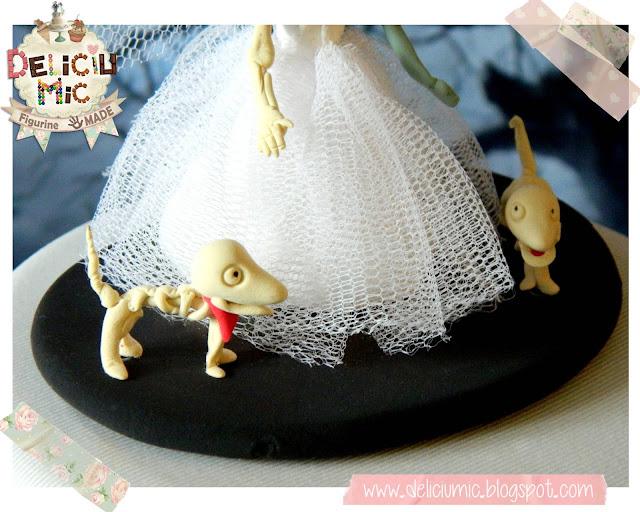 Figurine tort nunta - Corpse Bride cake topper