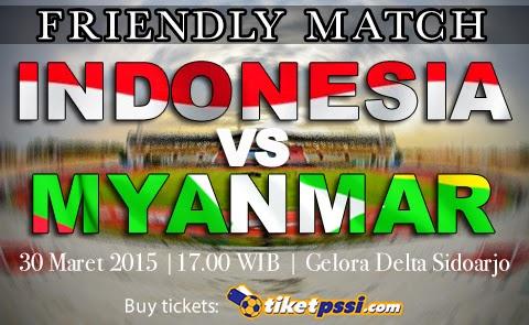 Timnas Indonesia vs Myanmar Friendly Match 2015