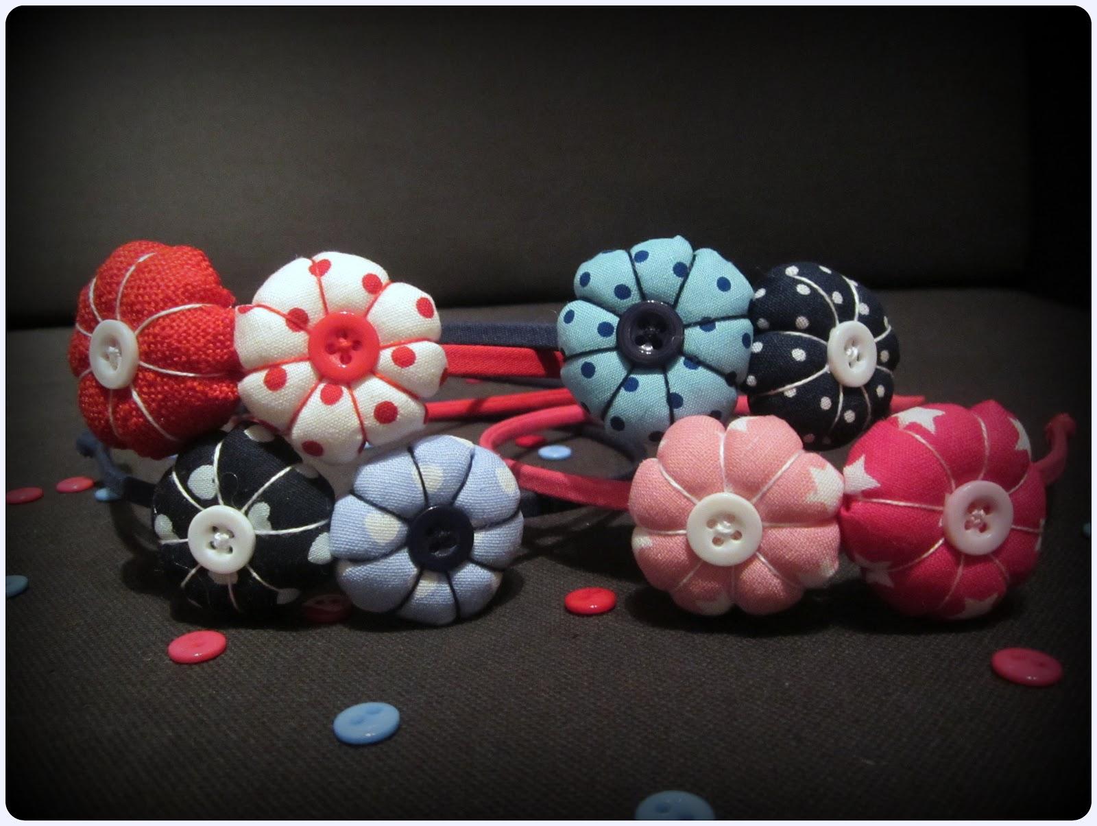 Diademas con flores de tela - ChikiPol