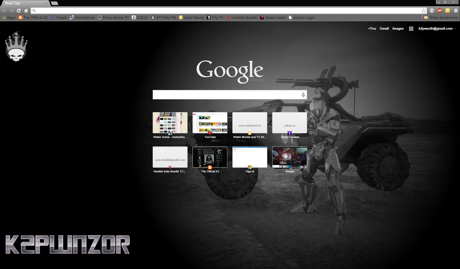 Google chrome theme infinite stratos - Chrome Theme K2pwnz0r