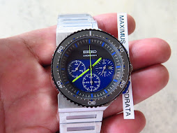 SEIKO CHRONOGRAPH BLUE DIAL - DESIGN BY GIUGIARO - LIMITED EDITION 0316 / 2500