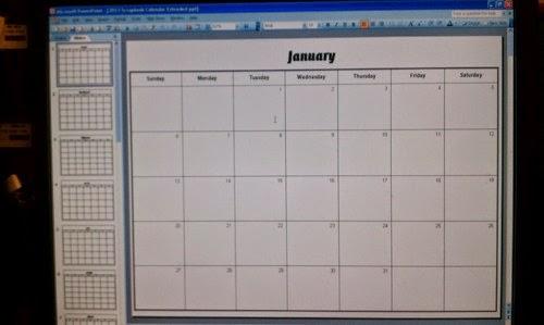Jacque4u2c 2015 Blank Scrapbooks And Calendar Templates
