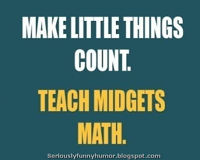 Make little things count, teach midgets math!