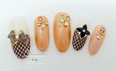 Korean cute nail art