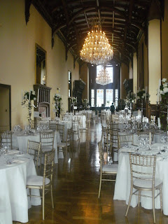 bridal flowers  and chair cover hire at adare manor