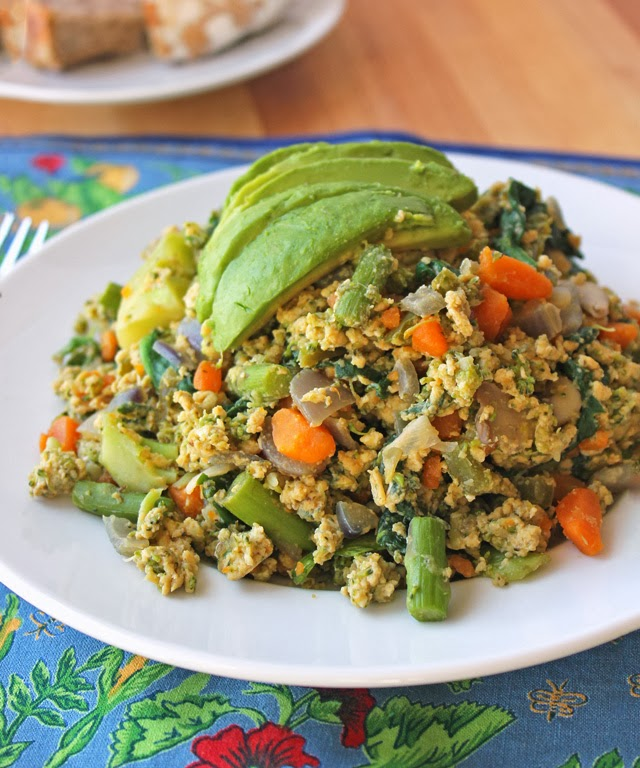 Healthy Fresh Vegetable Scramble Recipe