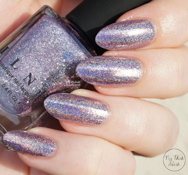 lilac holographic indie polish