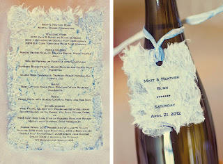 Words to the guests and a wine bottle