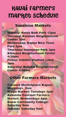 kauai farmers market schedule