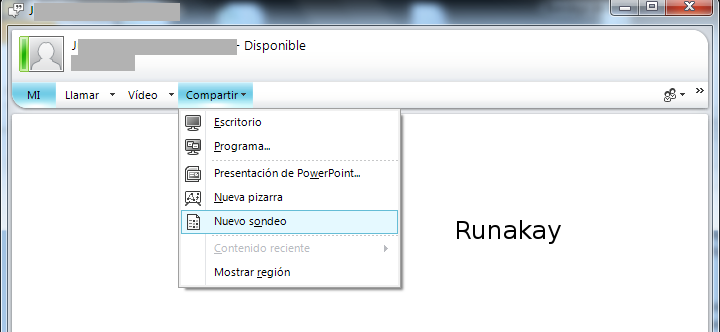 runakay creating a quick survey with lync