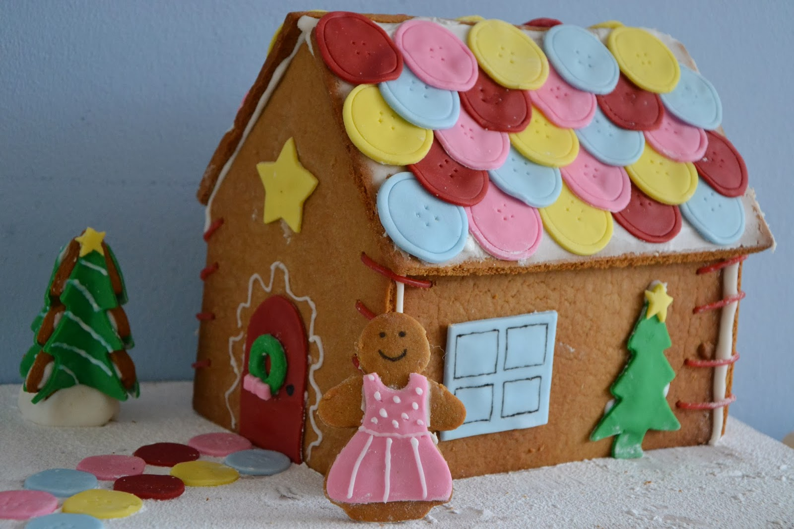 Stitched Up Gingerbread House