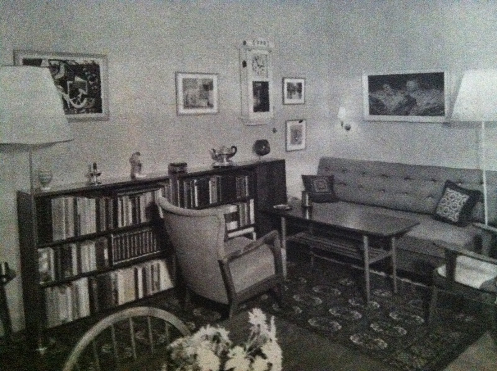 Dengang i 50erne: fire mennesker i to et halvt værelse