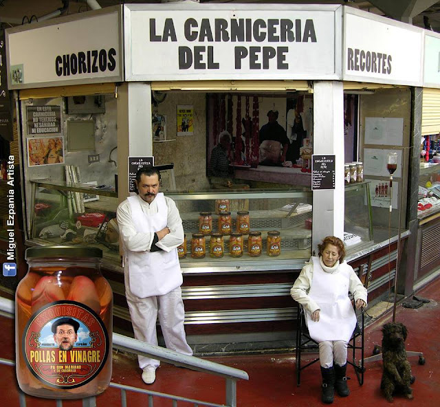 ha recibido el visto bueno, Miguel Ezpania mostraba tarros de 'pollas ...