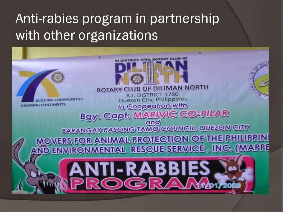 the philippine anti rabies law Home essays the philippine anti-rabies law the philippine anti-rabies law topics: dog , rabies , vaccination pages: 11 (2645 words) published: february 7, 2012.