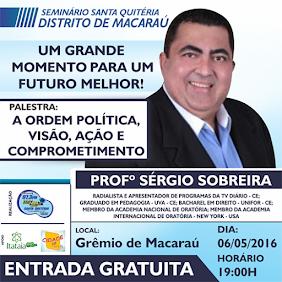 SEMINÁRIO EM MACARÁÚ COM SÉRGIO SOBREIRA