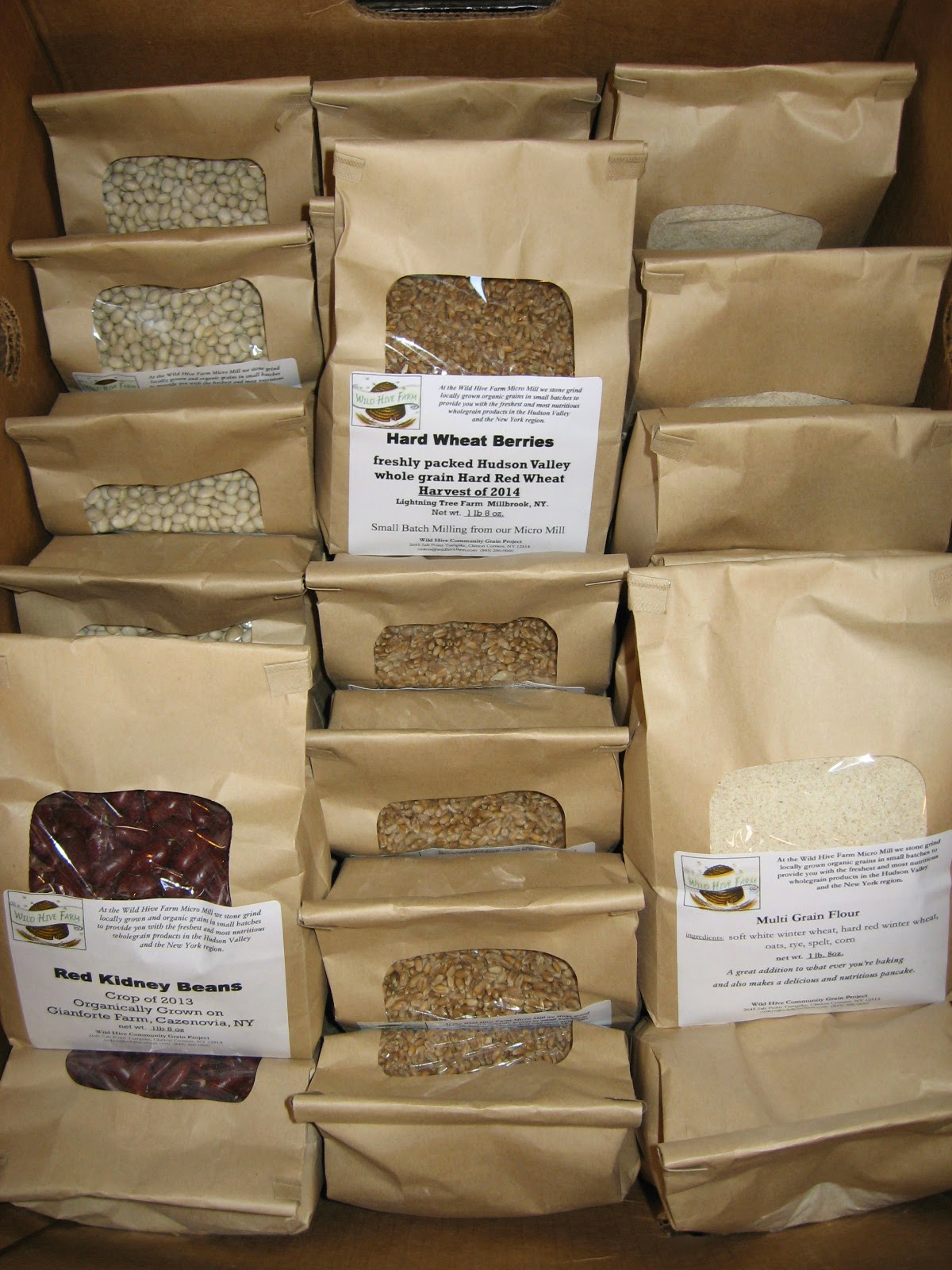 Wild Hive Farms grains and beans