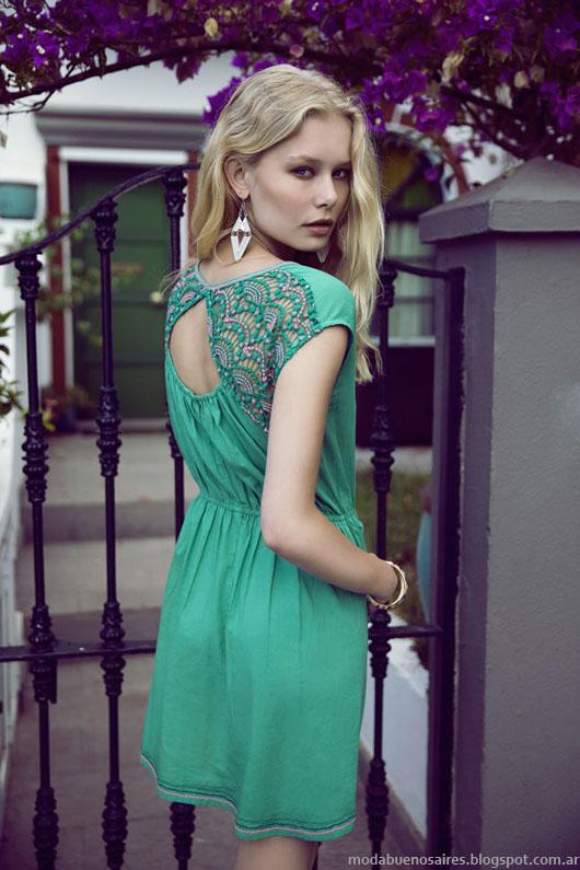 India Style primavera verano 2014 vestidos.