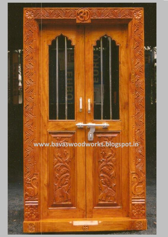 Carpenter work ideas and kerala style wooden decor pooja for Traditional wooden door design ideas