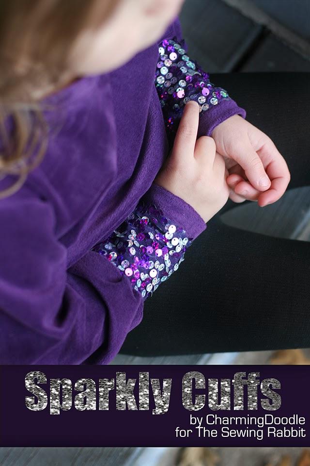 Sparkle Cuffs DIY      easy sewing DIY