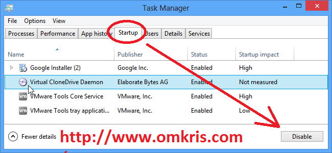 start up omkris3