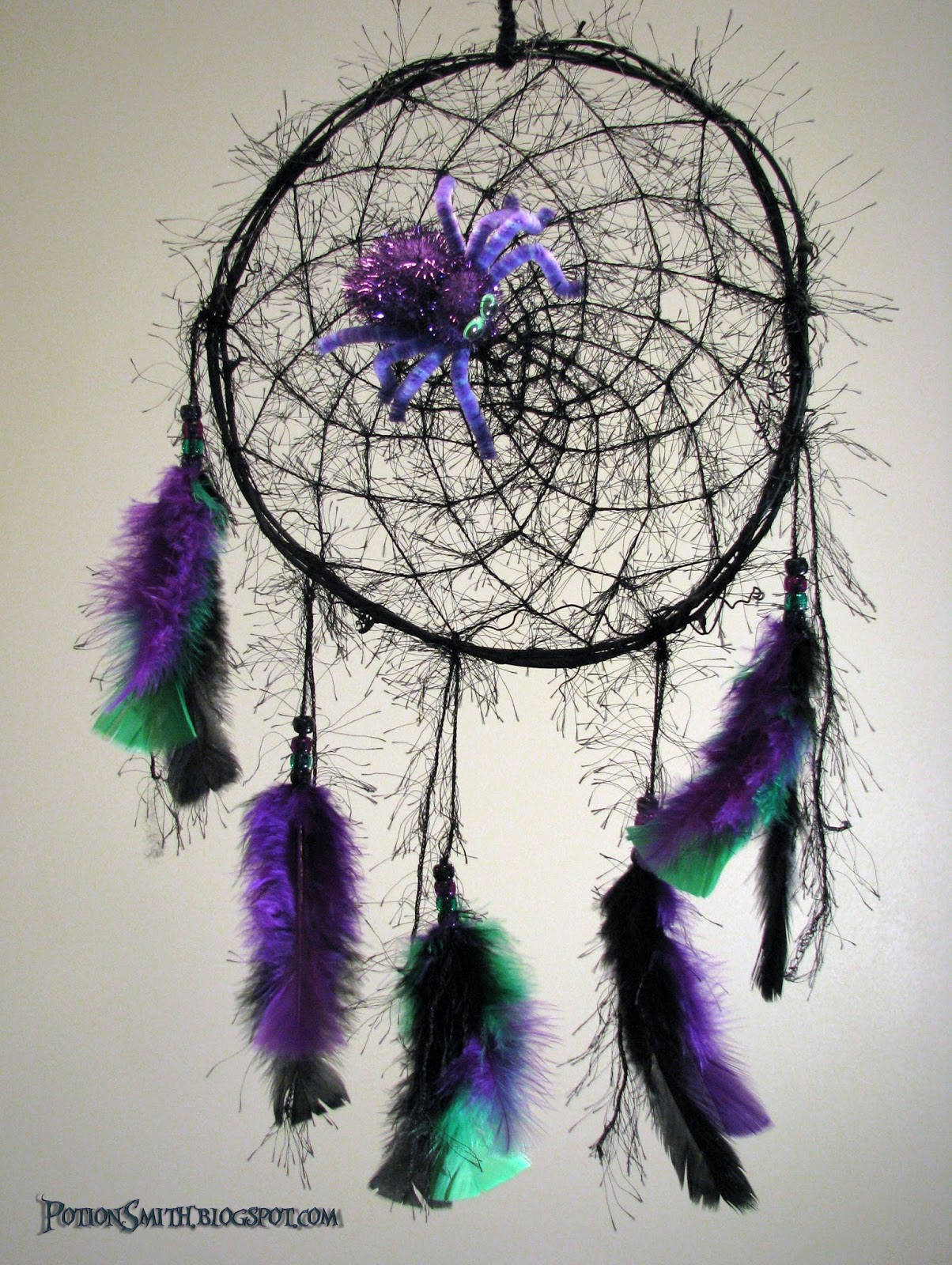 Potionsmith halloween dream catcher for How to make a dreamcatcher with pictures
