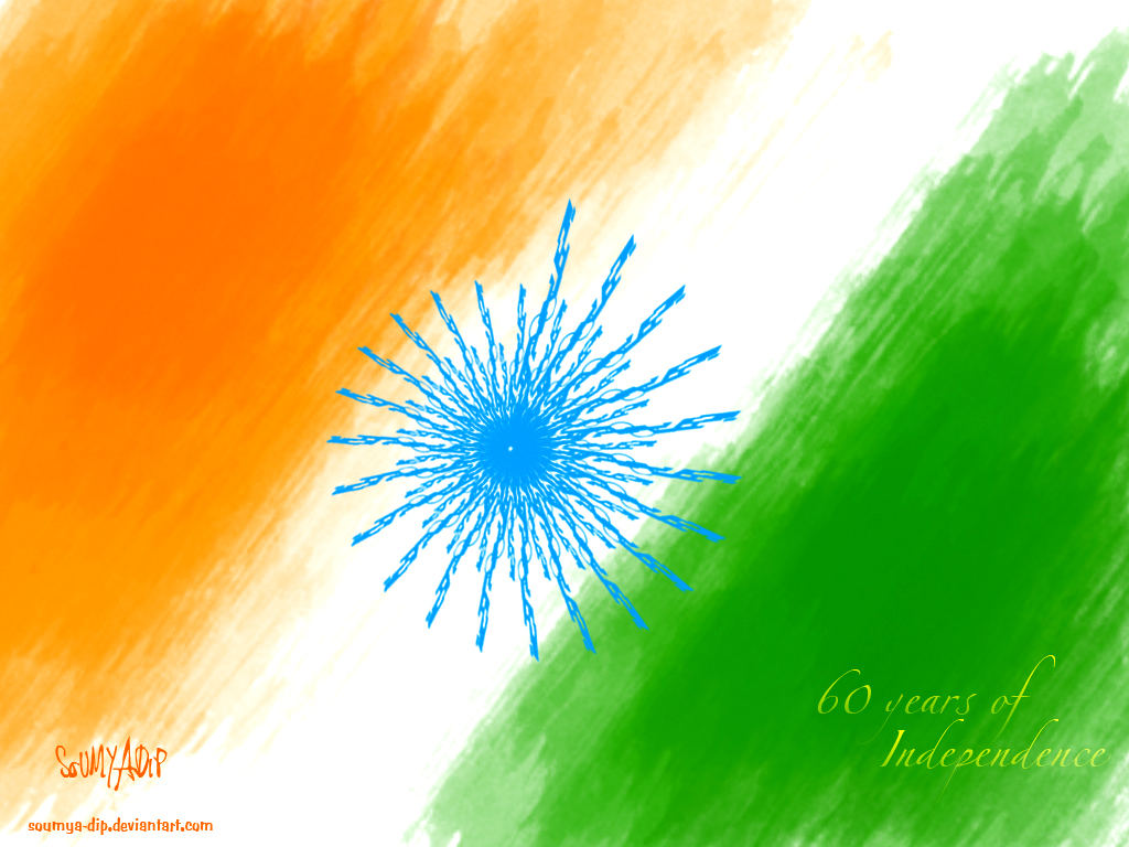 Indian flag wallpaper painting