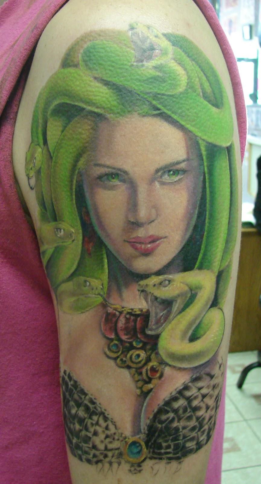 Mike PackerVersace Medusa Tattoo Sleeve