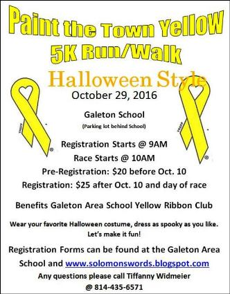 10-29 Paint The Town Yellow 5K Run/Walk