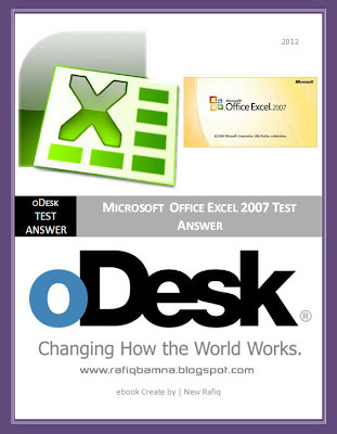 oDesk MS Excel Test Answer