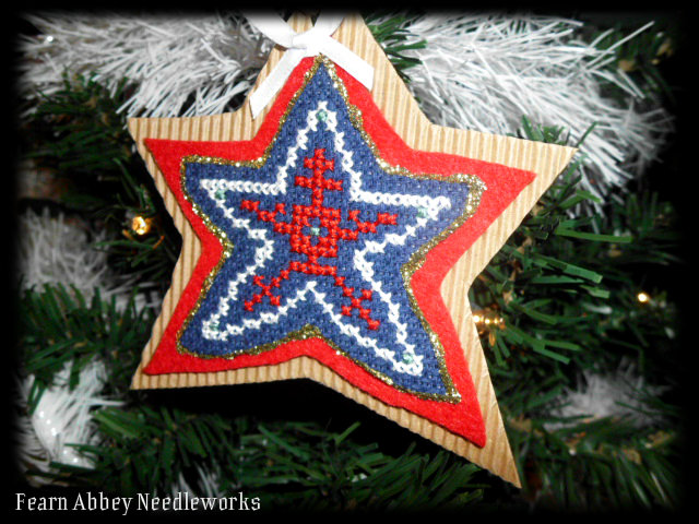 Fearn abbey needleworks stacey 39 s stitching christmas for Number of ornaments for christmas tree