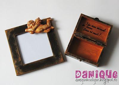 rama foto si cutiuta cu ingeras