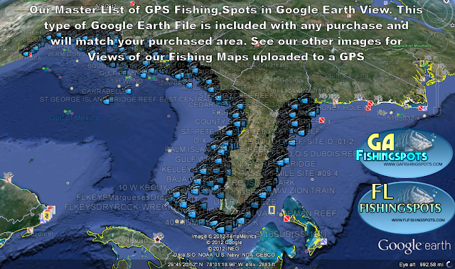 google earth fishing maps