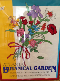 Signed Atlanta Botanical Garden print - garage sale finds - thediybungalow.com